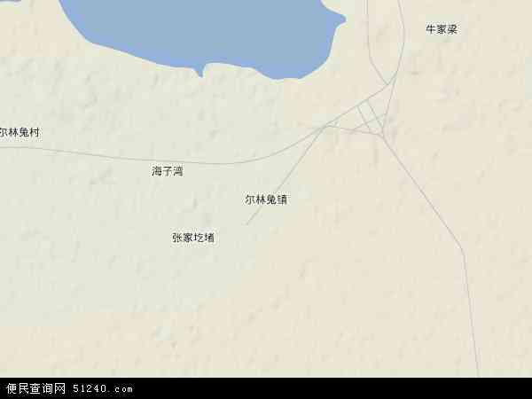中国陕西省榆林市神木县尔林兔镇地图(卫星地图)