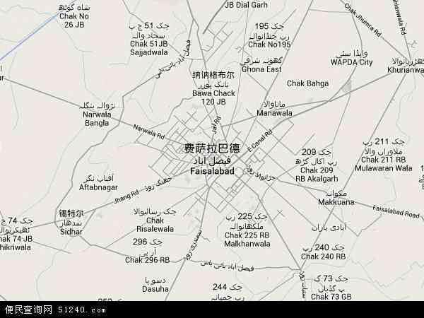 费萨拉巴德地图 - 费萨拉巴德卫星地图