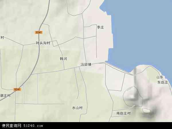 中国山东省枣庄市山亭区冯卯镇地图(卫星地图)