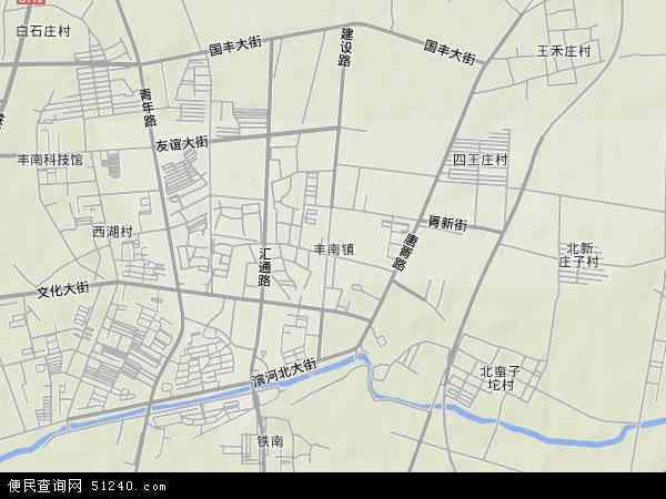 中国河北省唐山市丰南区丰南镇地图(卫星地图)