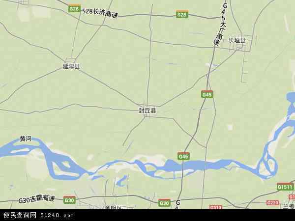 中国河南省新乡市封丘县地图(卫星地图)