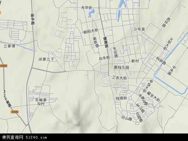 中国辽宁省辽阳市宏伟区工农地图(卫星地图)