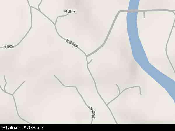 中国四川省自贡市自流井区郭家坳街地图(卫星地图)
