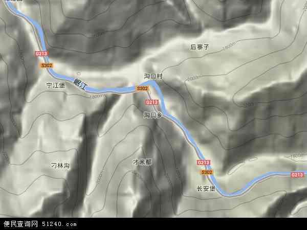 沟口乡卫星地图