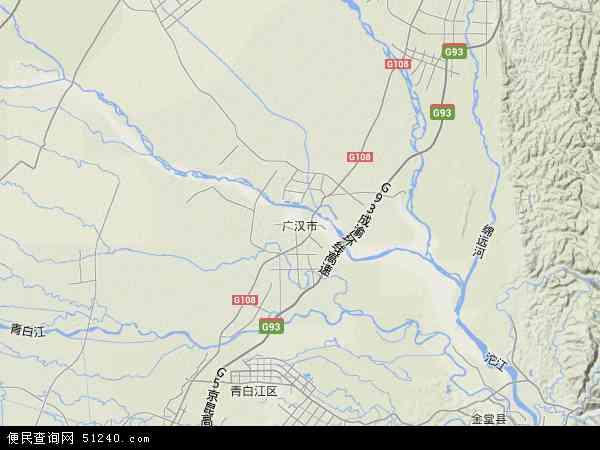 广汉市地图 - 广汉市卫星地图图片
