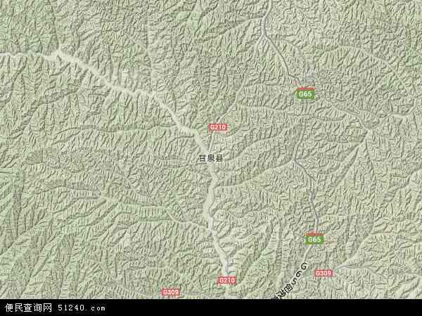 中国陕西省延安市甘泉县地图(卫星地图)