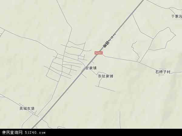 中国辽宁省鞍山市千山区甘泉镇地图(卫星地图)