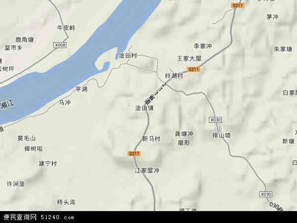 中国湖南省株洲市株洲县淦田镇地图(卫星地图)