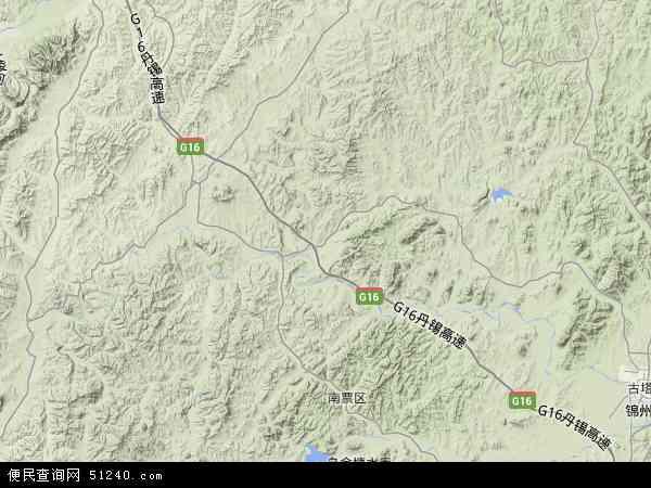 中国辽宁省葫芦岛市南票区高桥镇地图(卫星地图)