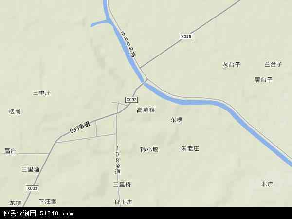 高塘镇地形地图
