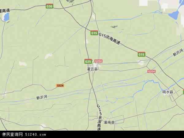 灌云县地图 - 灌云县卫星地图图片
