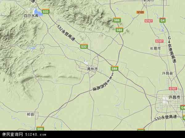 中国河南省许昌市禹州市郭连镇地图(卫星地图)