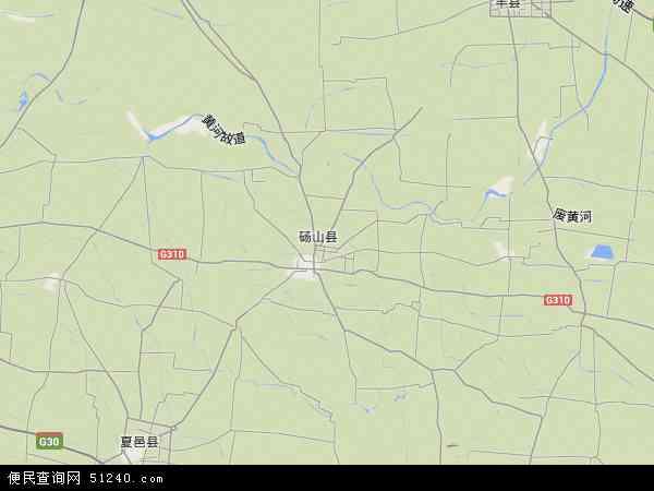 中国安徽省宿州市砀山县高铁新区地图(卫星地图)