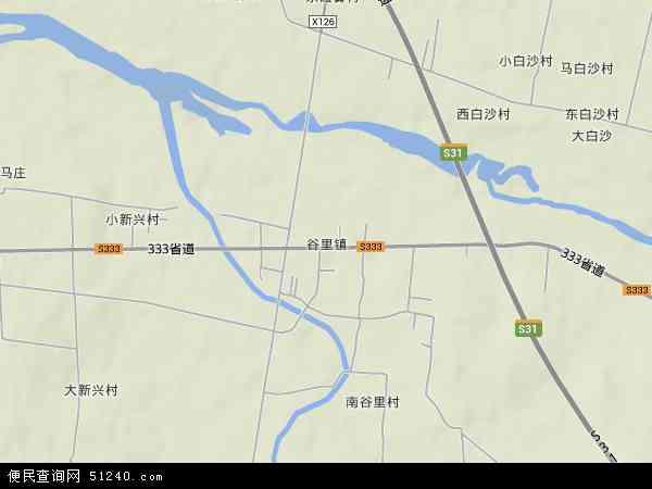 中国山东省泰安市新泰市谷里镇地图(卫星地图)