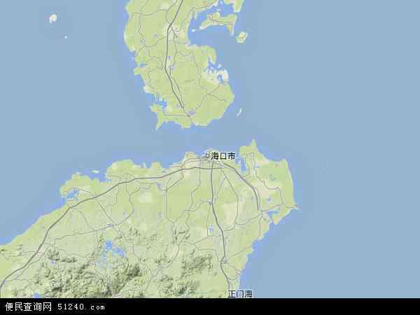 海南省地图 - 海南省卫星地图