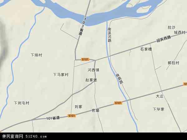 中国青海省海南藏族自治州贵德县河西镇地图(卫星地图)
