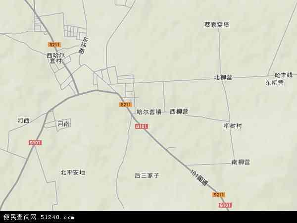 中国辽宁省阜新市彰武县哈尔套镇地图(卫星地图)