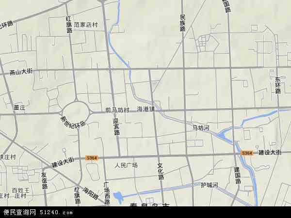 中国河北省秦皇岛市海港区海港镇地图(卫星地图)