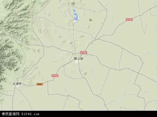 黑山县地图 - 黑山县卫星地图