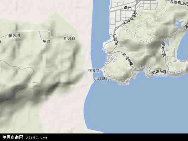 珠海市横琴岛地图_