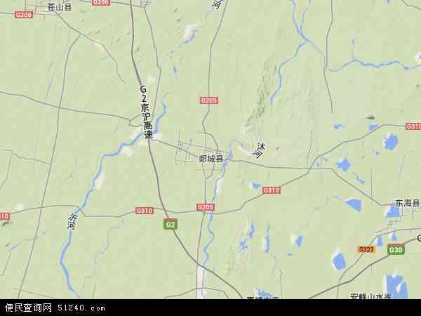 中国山东省临沂市郯城县红花镇地图(卫星地图)