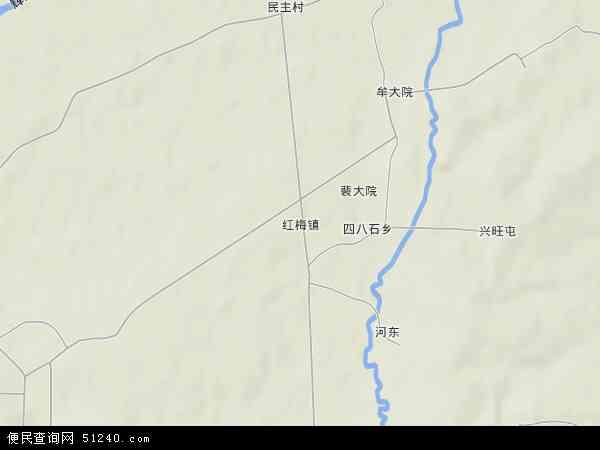 中国吉林省通化市梅河口市红梅镇地图(卫星地图)