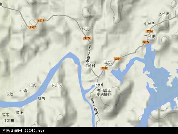 中国江西省抚州市南城县洪门镇地图(卫星地图)图片