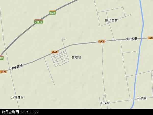 中国河南省新乡市获嘉县黄堤镇地图(卫星地图)