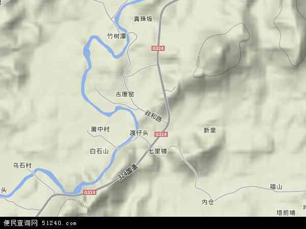 中国福建省漳州市云霄县火田镇地图(卫星地图)