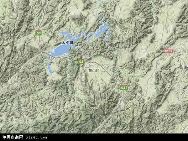 本站收录有:最新黄山区地图
