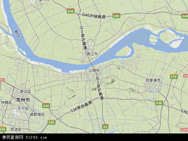 江阴市地图 - 江阴市卫星地图