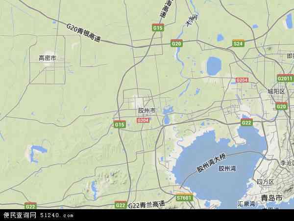 胶州市地图 胶州市卫星地图 胶州市高清航拍地图 胶州市高清卫星地图