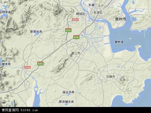 中国福建省泉州市晋江市地图(卫星地图)