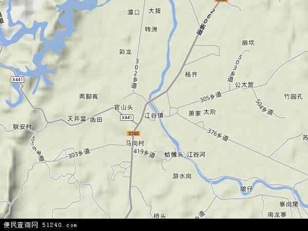 中国广东省肇庆市四会市江谷镇地图(卫星地图)