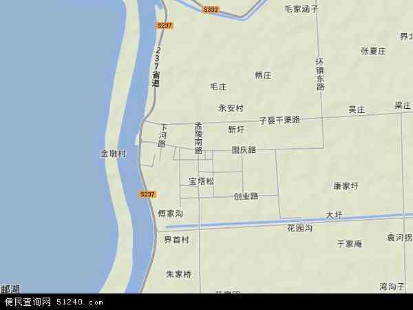 界首镇地图 - 界首镇卫星地图