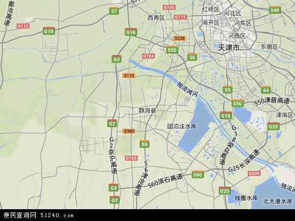 中国天津市静海县地图(卫星地图)