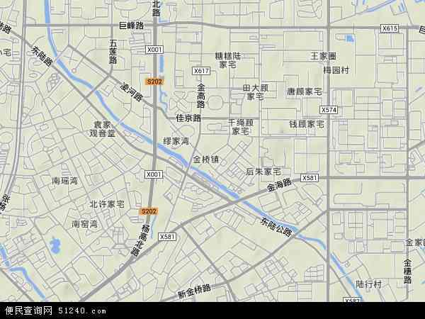 金桥镇地形地图