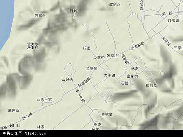 中国浙江省舟山市定海区金塘镇地图(卫星地图)