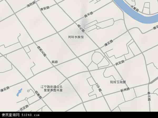 江宁路地图 - 江宁路卫星地图