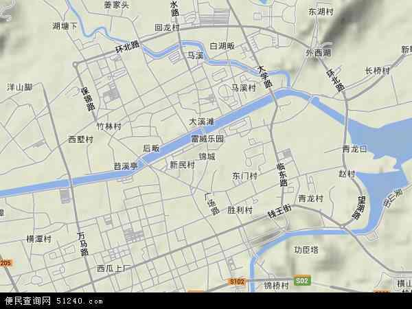 中国 浙江省 杭州市 临安市 锦城  本站收录有:2017锦城卫星地图高清
