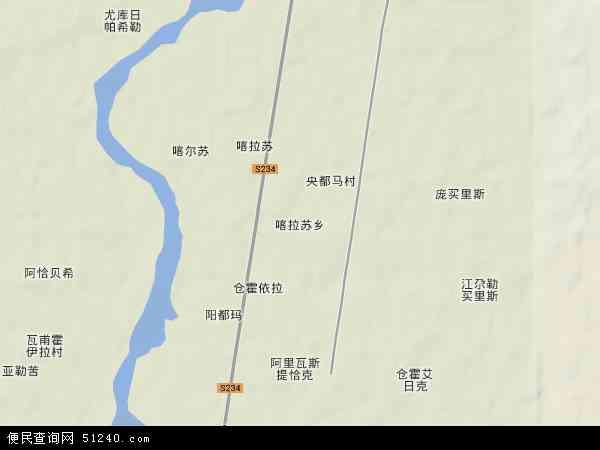 喀什地区 莎车县 喀拉苏乡  本站收录有:2018喀拉苏乡卫星地图高清版图片
