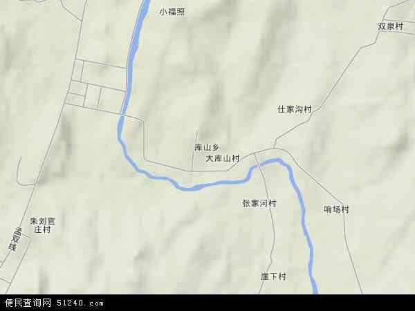 中国山东省日照市莒县库山乡地图(卫星地图)