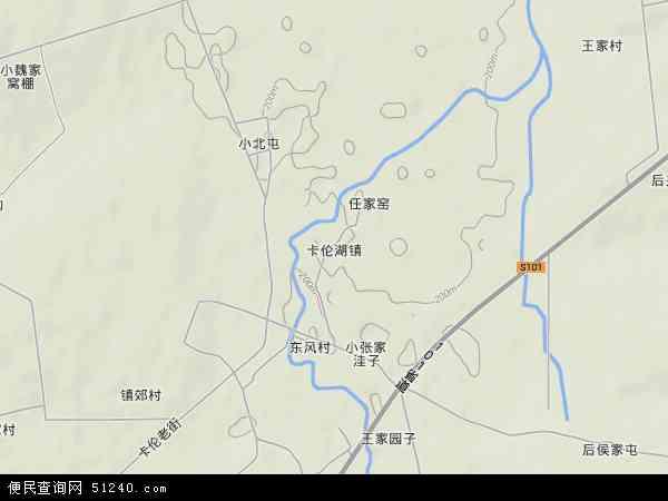 中国吉林省长春市二道区卡伦湖镇地图(卫星地图)图片