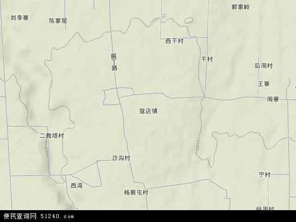 中国河南省洛阳市洛龙区寇店镇地图(卫星地图)图片