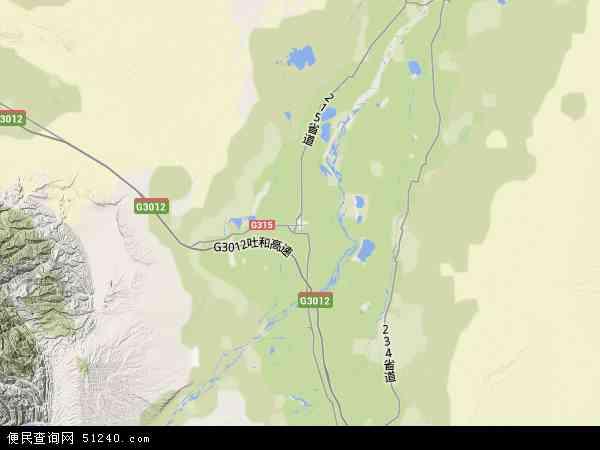 喀什监狱地形地图