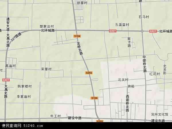 山东省兖州市城区地图 详细
