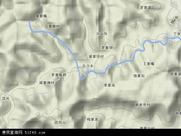 乐兴乡地图 - 乐兴乡卫星地图