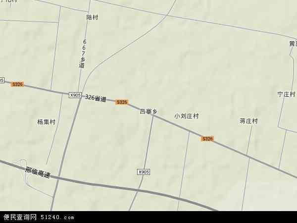 吕寨乡地图 - 吕寨乡卫星地图 - 吕寨乡高清航拍地图