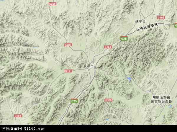 中国辽宁省朝阳市凌源市地图(卫星地图)