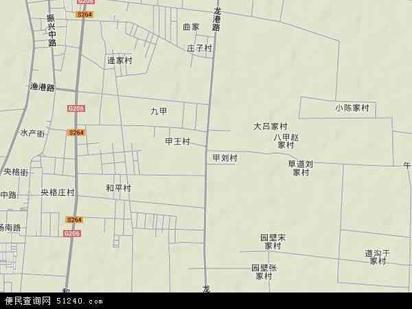 中国山东省烟台市龙口市龙港地图(卫星地图)